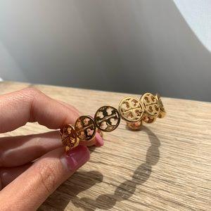 Authentic Tory Burch Gold Logo Cuff Bracelet
